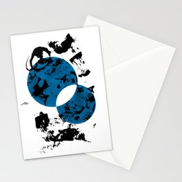 Blue & Black Stationery Cards