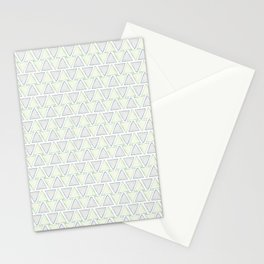 Geometric Watercolor Triangle Pattern Stationery Cards