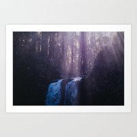Stocking Creek Waterfall Art Print
