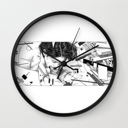asc 795 - Les espaces de Lazar (Tattoo deconstruction) Wall Clock