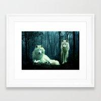wolves Framed Art Prints featuring Wolves by Julie Hoddinott