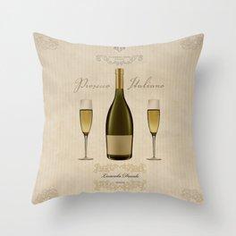 Sandro Ferreri - Prosecco Italiano Throw Pillow