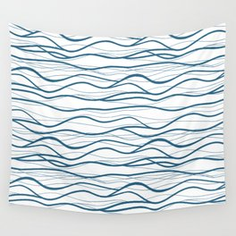 Seapattern. Hand drawn waves Wall Tapestry