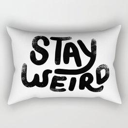 Stay Weird Vintage Rectangular Pillow