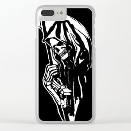 MAKE THIS OCTOBER AND HALLOWEEN A SCREAM WITH THE GRIM REAPER Clear iPhone Case