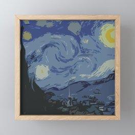 Blue night  Framed Mini Art Print