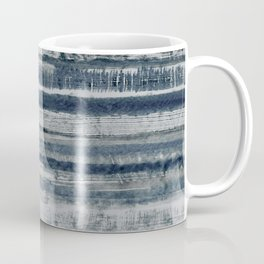 Expressive Indigo Watercolor Stripe Coffee Mug