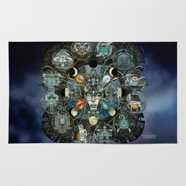 """Astrological Mechanism - Zodiac"" Rug"