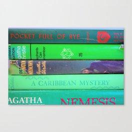 Agatha in Green Canvas Print