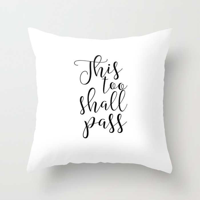 Printable Art This Too Shall Pass Wall Prints Inspirational Quote ...