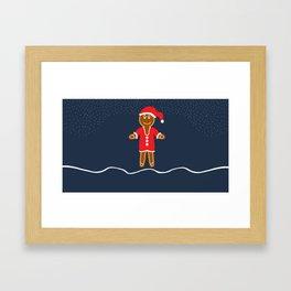 Gingerbread Santa Framed Art Print