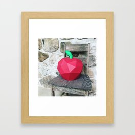 paper fruits portrait Framed Art Print