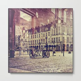 city landscape digital artwork Metal Print