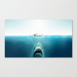 First And Last Swim Of The Day Canvas Print