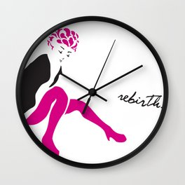 STAND UP WHEN YOU FALL Wall Clock