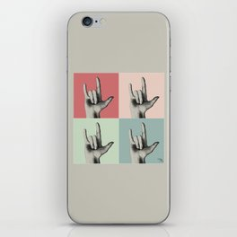 """I love you"" Vintage in sign language iPhone Skin"