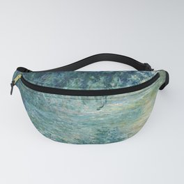 Claude Monet - Morning on the Seine - Impressionism Fanny Pack