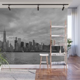 Lower Manhattan in Black and White Wall Mural