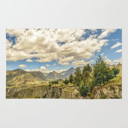 Valley and Andes Range Mountains Latacunga Ecuador Rug