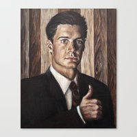 dale cooper Canvas Prints featuring Agent Dale Cooper / Twin Peaks by Heather Buchanan