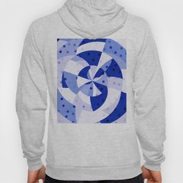 Polka Dots Blue Geometric Design Hoody