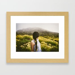 Lucy at Point Dume Framed Art Print