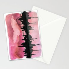 London Skyline 2 Pink Stationery Cards