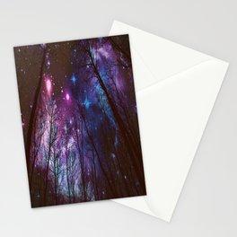 Black Trees Dark Space. Stationery Cards
