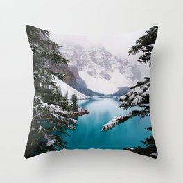 Paradise in the Mountains (Color) Throw Pillow