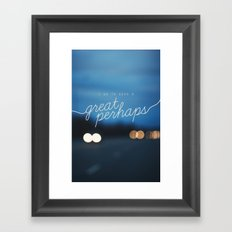 looking for alaska - great perhaps. Framed Art Print