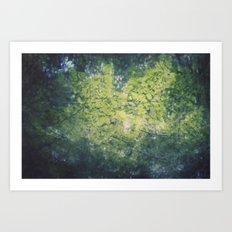 in the leaves Art Print