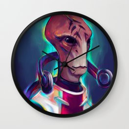 Neon Mordin... Had to be him Wall Clock