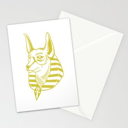 Great Egyptian Dog Shirt For Egypt Fan With Minimal Design Of An Ancient Egyptian Dog T-shirt Design Stationery Cards