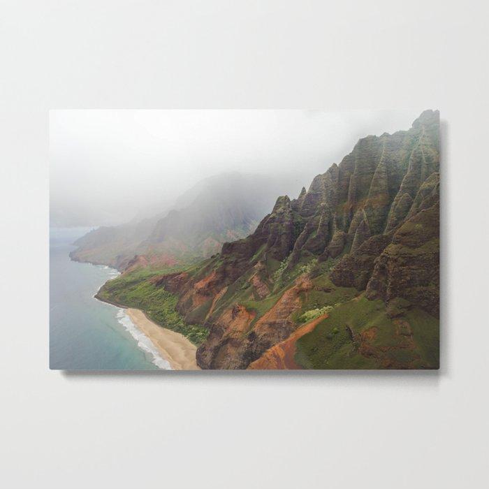 Wild Tropical Mountain Beach Metal Print
