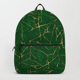 Kintsugi Emerald Green Backpack