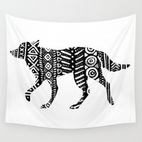 into the wild Wall Tapestries featuring Wild by Samantha Crepeau