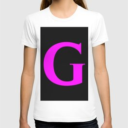 G MONOGRAM (FUCHSIA & BLACK) T-shirt