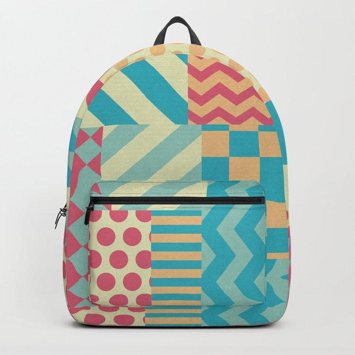 Vintage Patchwork Backpack