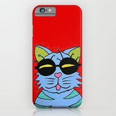 cat with glasses Slim Case iPhone 6s