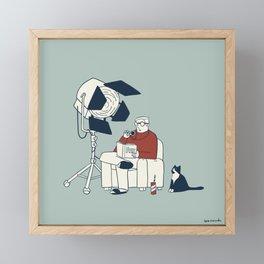 Gaffer in quarantine Framed Mini Art Print