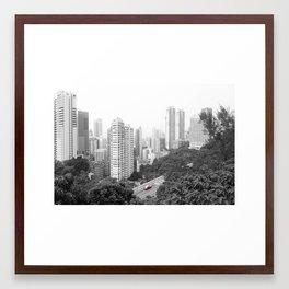 Hong Kong Taxi Framed Art Print