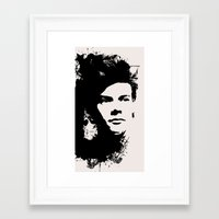 harry styles Framed Art Prints featuring Harry Styles by Aki-anyway