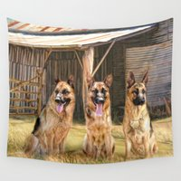 german Wall Tapestries featuring German Shepherds by Trudi Simmonds