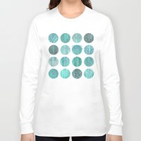 celestial Long Sleeve T-shirts featuring CELESTIAL BODIES - MIDNIGHT by Daisy Beatrice