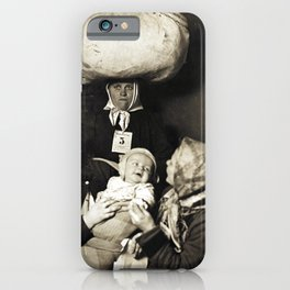 Vintage Lewis Hine Slavic Women and Baby iPhone Case