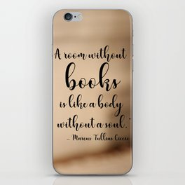 A room without books iPhone Skin