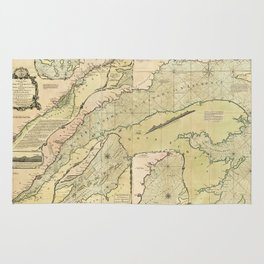 Map of the Saint Lawrence River (1771) Rug