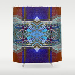 Bougie Boho Vintage Geometric Gemstone Shower Curtain