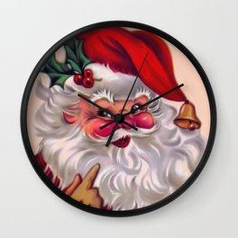 Cute vintage santa claus 2 Wall Clock