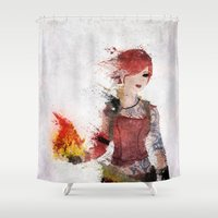 borderlands Shower Curtains featuring Lilith by Melissa Smith
